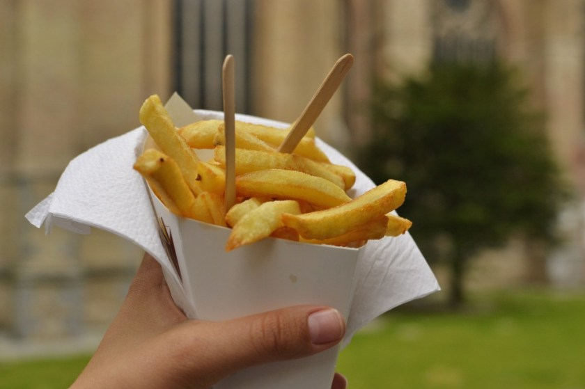 Belgian fries in Bruges, Belgium