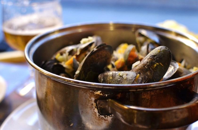Mussels in Bruges, Belgium