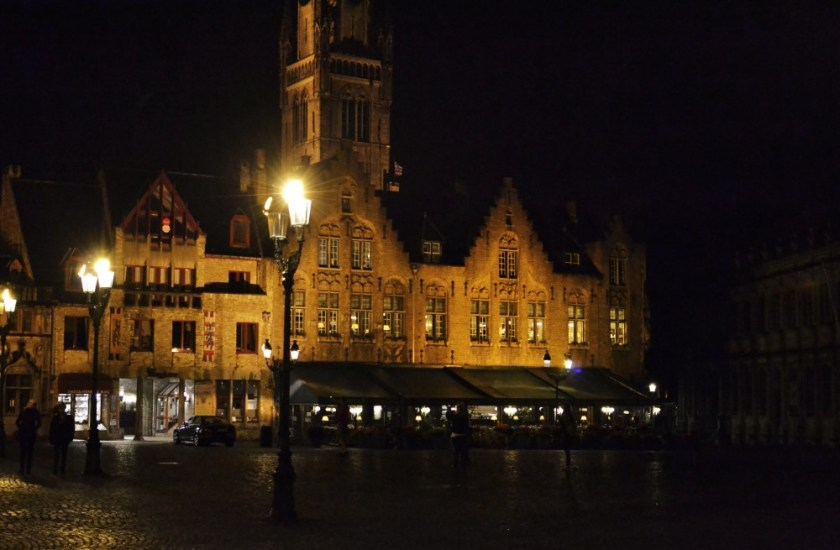 Bruges, Belgium at night