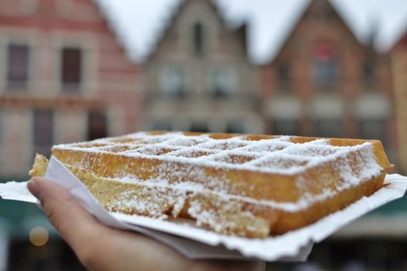 Waffle in Bruges, Belgium