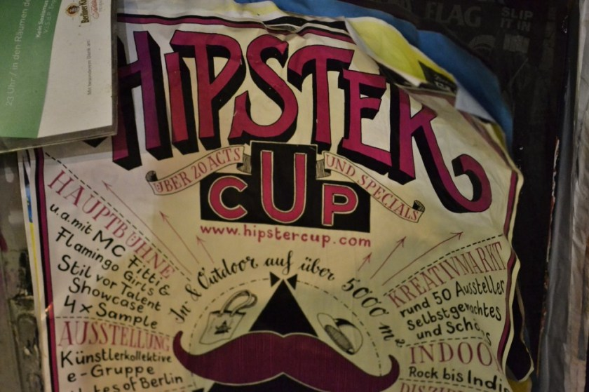 Hipster cup poster, Berlin, Germany