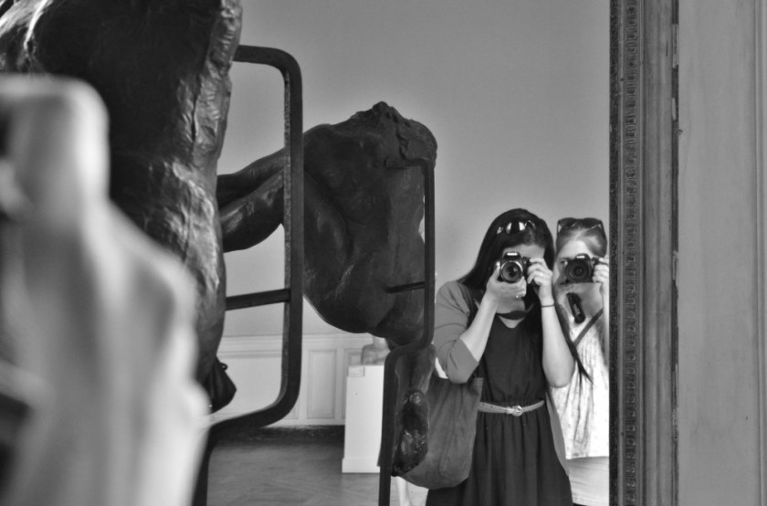 Edna and Julika at Musée Rodin, Paris, France