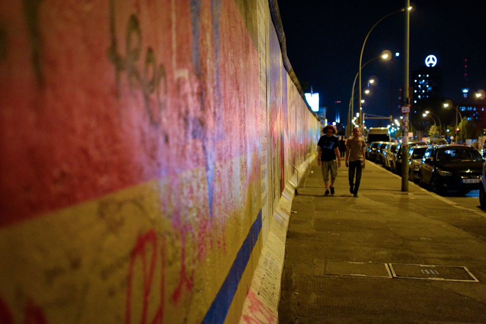 Photo Essay: Berlin's East Side Gallery at Night