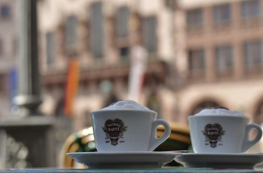 Coffee at the Römerberg, Frankfurt, Germany