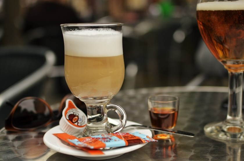 Coffee and beer in Bruges, Belgium