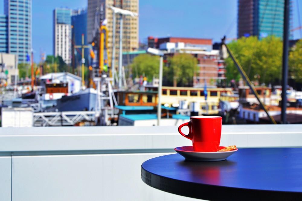 Coffee in Rotterdam, Holland