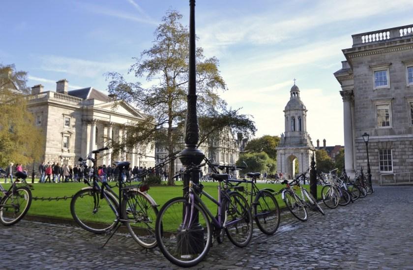Bikes at Trinity College, Dublin, Ireland