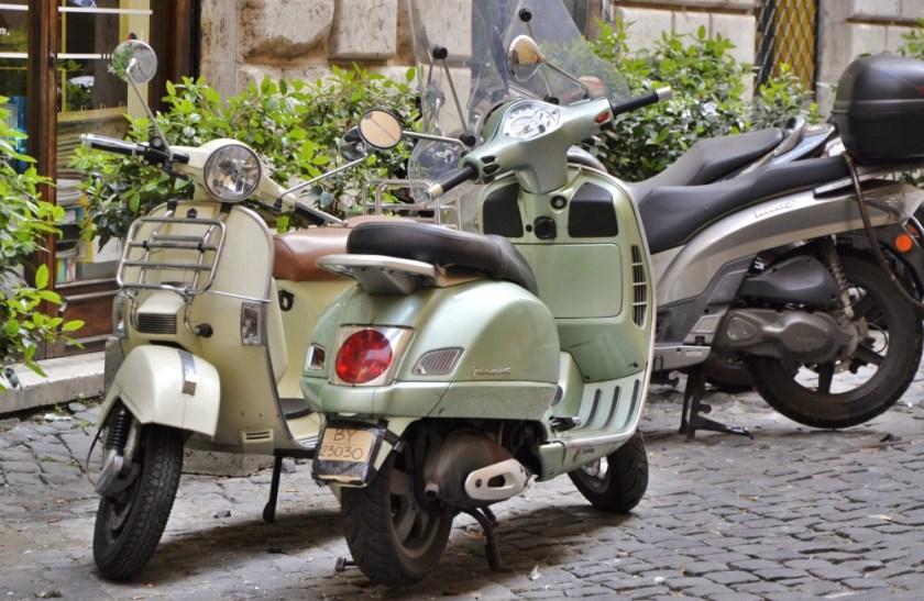 Vespas in Rome, Italy