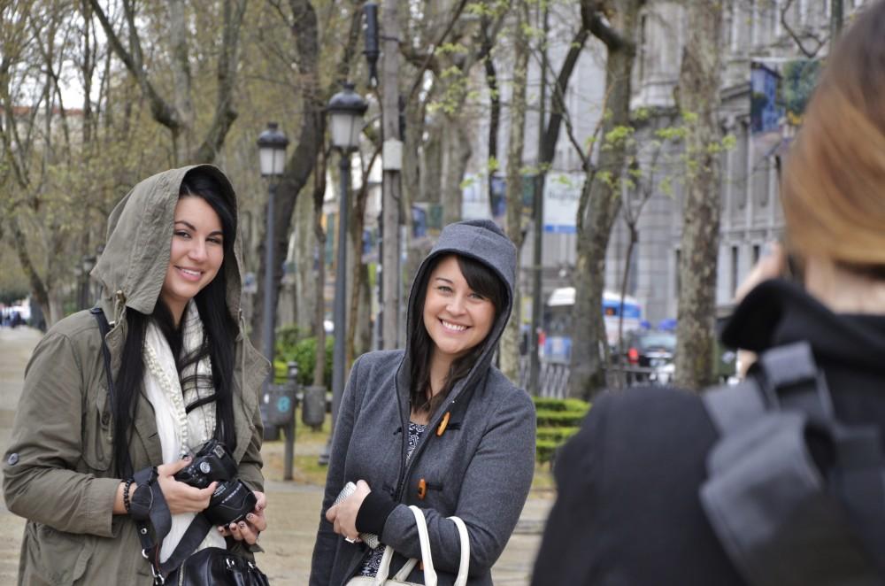 #GirlsGoneMAD posing in Madrid, Spain