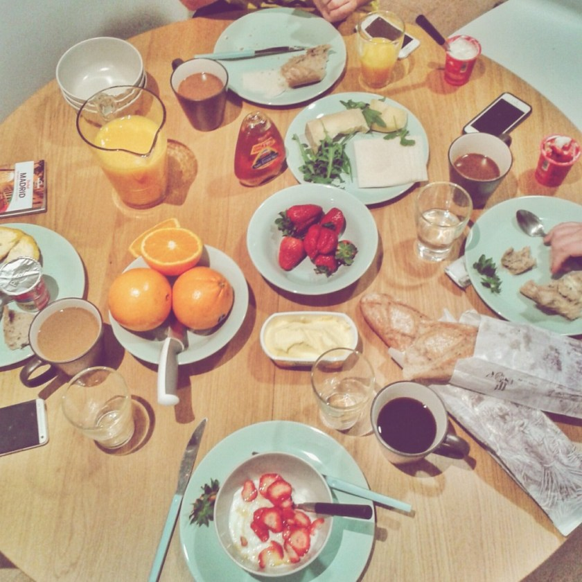 Breakfast in a GowithOh apartment in Madrid, Spain