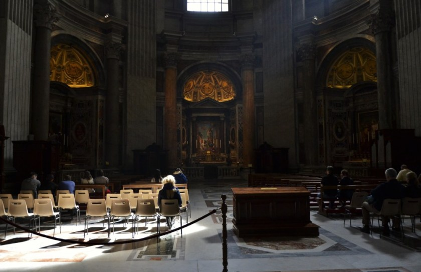 Inside St. Peter's Basilica, Rome, Italy