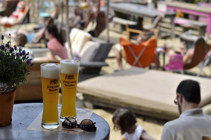 Beach bar in Hamburg, Germany