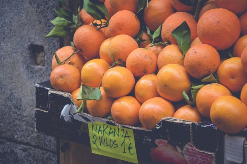 Oranges in Madrid, Spain