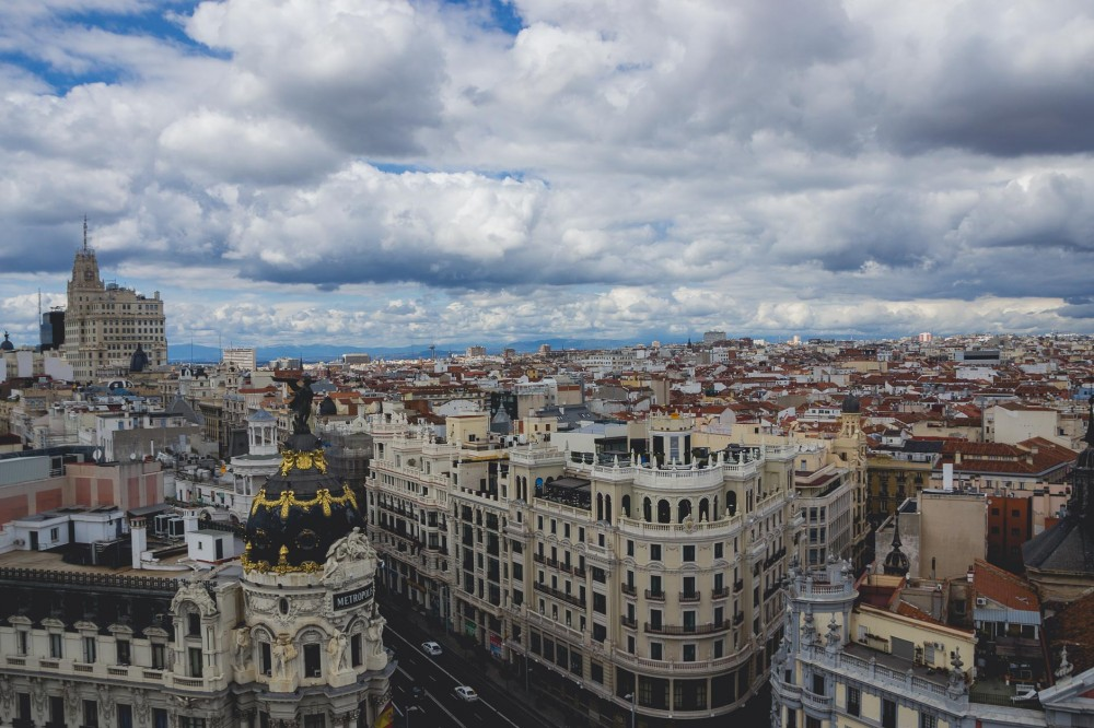 Madrid, Spain, from above