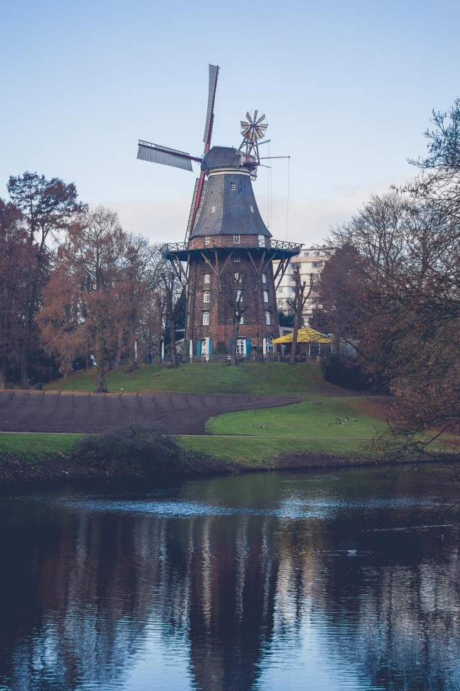 Windmill in Bremen, Germany