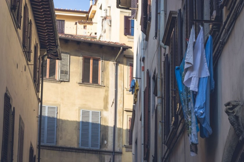 Laundry day in Florence, Italy