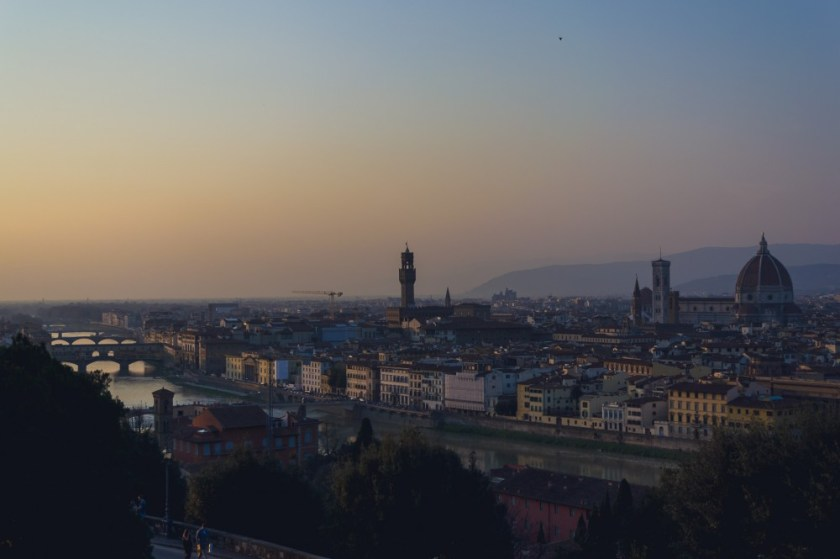 The view from Piazzale Michelangelo in Florence, Italy
