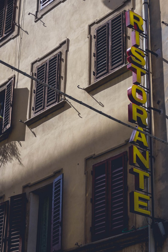 "A classical ""Ristorante"" sign in Florence, Italy"