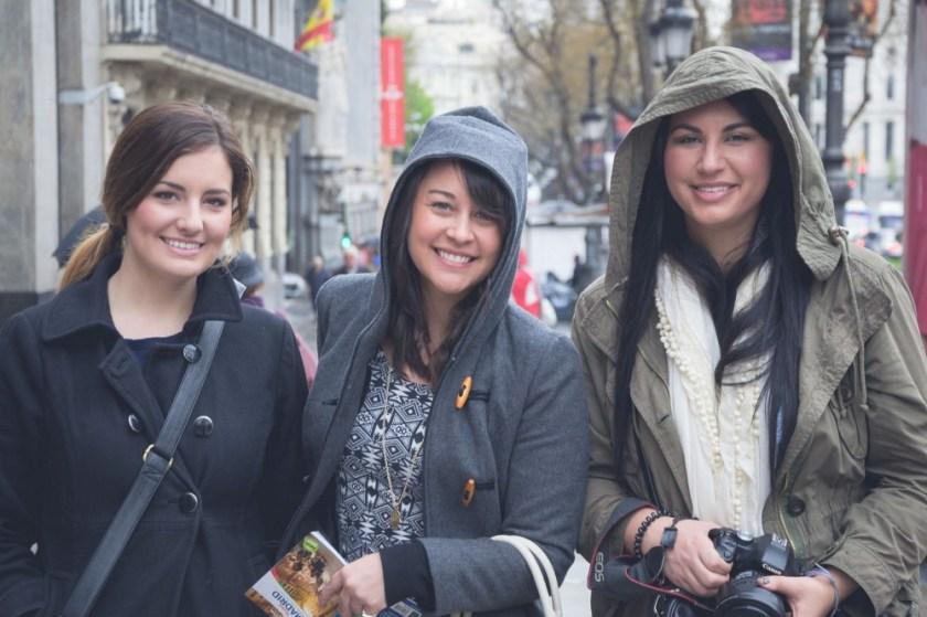 Ashley, Jessica, and Amanda in Madrid