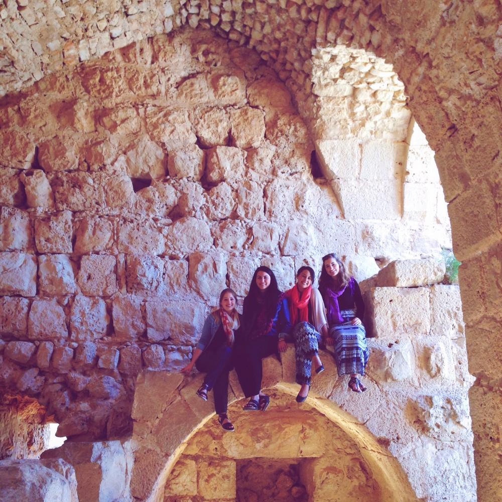 #GirlsGoneJordan in Ajloun castle, Jordan