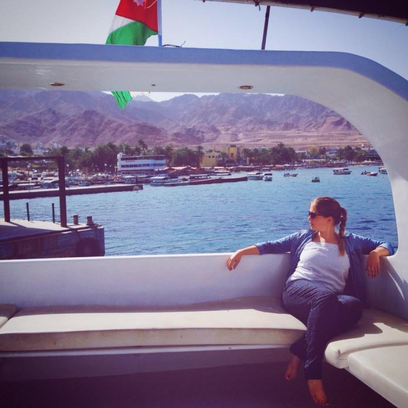 Julika sailing on the Red Sea near Aqaba, Jordan