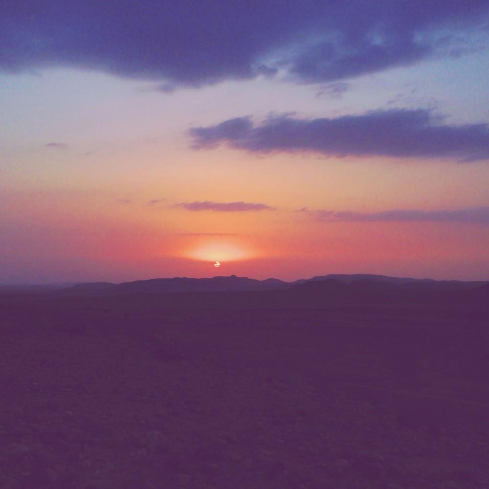 Sunset in Dana Biosphere Nature Reserve, Jordan