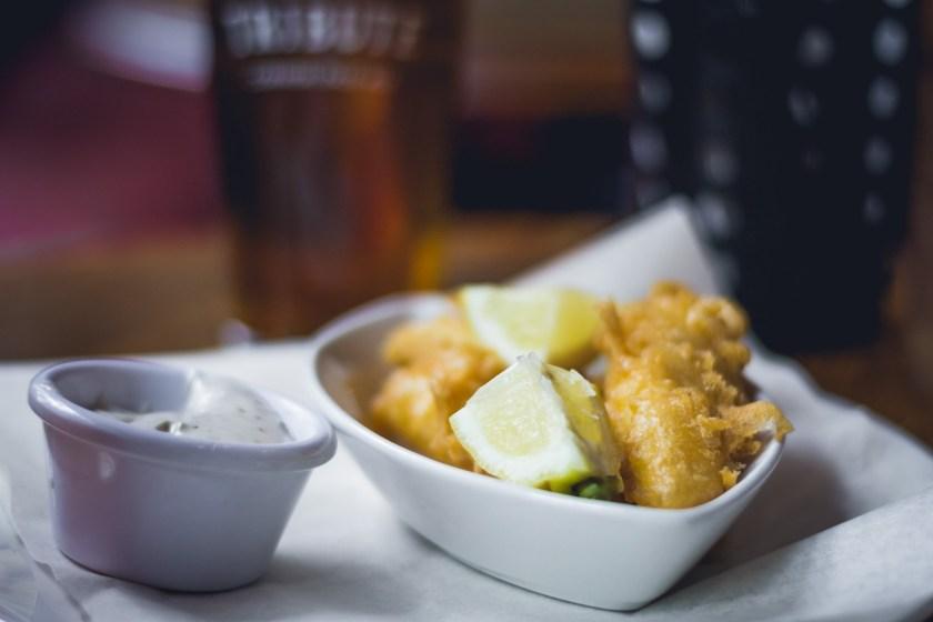 Fried fish, London, UK