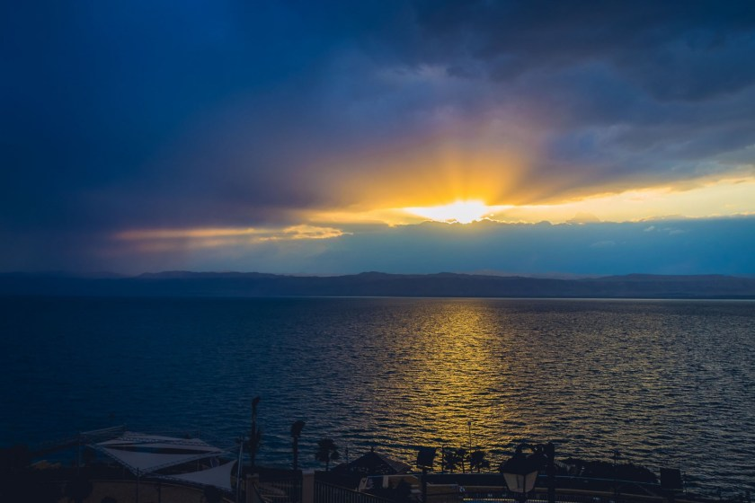 Sunset over the Dead Sea, Jordan