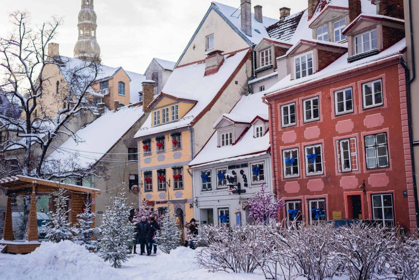 Snowy Riga, Latvia in January