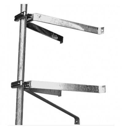 hdsat paire d etriers fixation murale en u pour mat deport 50 cm mat antenne tnt parabole