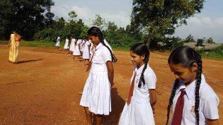 Papiliyawala Kanishta Vidyalaya Students Practiced Mindfulness