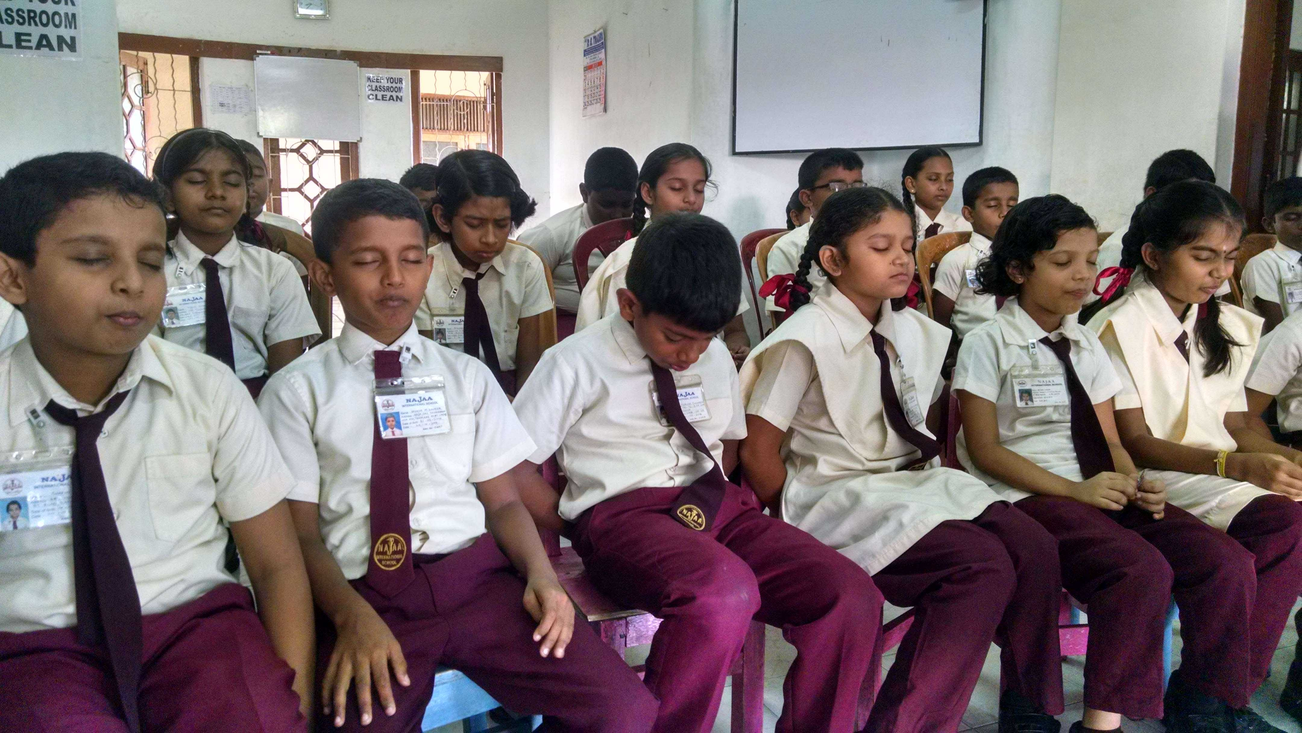 Mindfulness Program at Najaa International School, Mount Lavinia