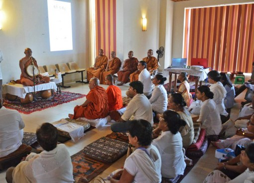 Guided Mindful Sitting or Just Being, demonstrated by Venerable Dhammajiva