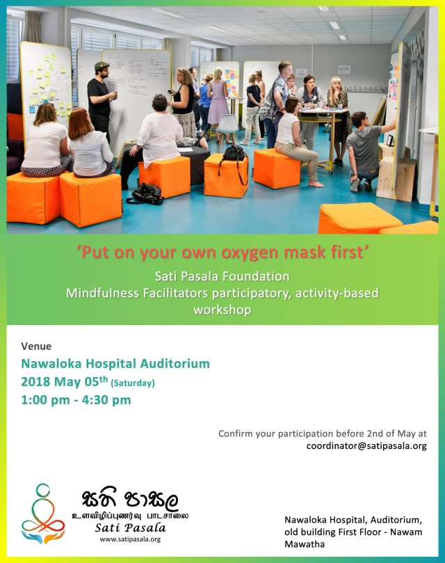 Mindfulness Facilitators Workshop - May 5th @ 1.00pm_1