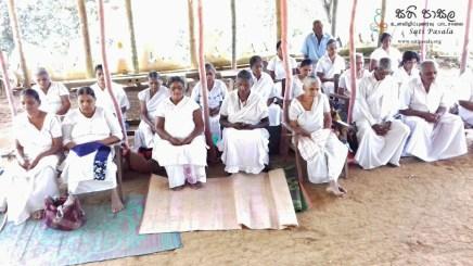 Sati Pasala Programme at Shailagiri Aranya, Nikahetiya (4)