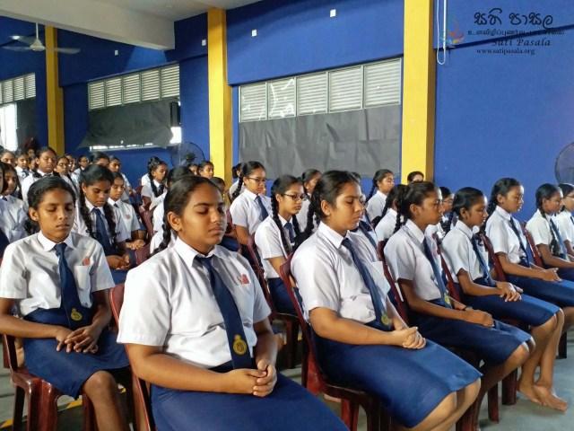 Sati Pasala Programme at Sujatha Balika Vidyalaya, Colombo