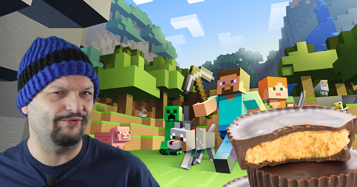 Man's Problems Briefly Disappear When Playing Minecraft for 4 Hours and Eating Six Peanut Butter Cups