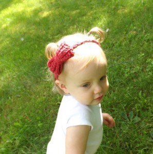 Would you look at this precious baby boy headband from Abigail's Attic?
