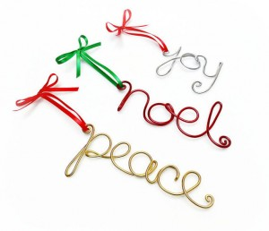 Joy, Noel, Peace Ornaments from Yellow Rose Accents