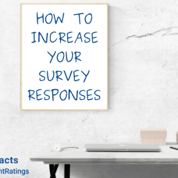 how to increase your survey responses sign with desk with closed computer