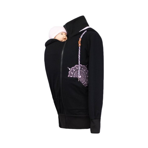 Angel Wings Babywearing Hoodie Black - Tkomnie.cz