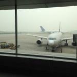 空港にて撮影