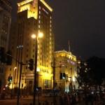 中山東一路辺りの遊歩道からの夜景