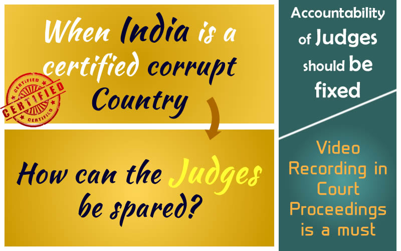 "Protest against ""Corruption in Judiciary"" in India tantamounts to Sedition"