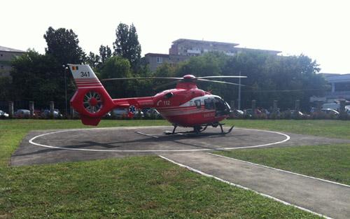 Tânără de 15 ani dusă cu un elicopter SMURD la Târgu Mureș