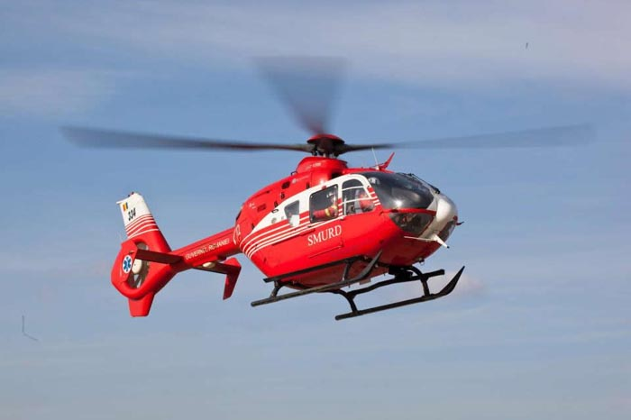 Sătmăreancă transportată cu elicopterul SMURD la Cluj