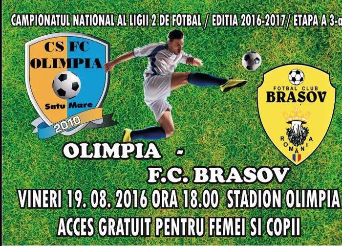 Olimpia va întâlni pe teren propriu FC Brașov