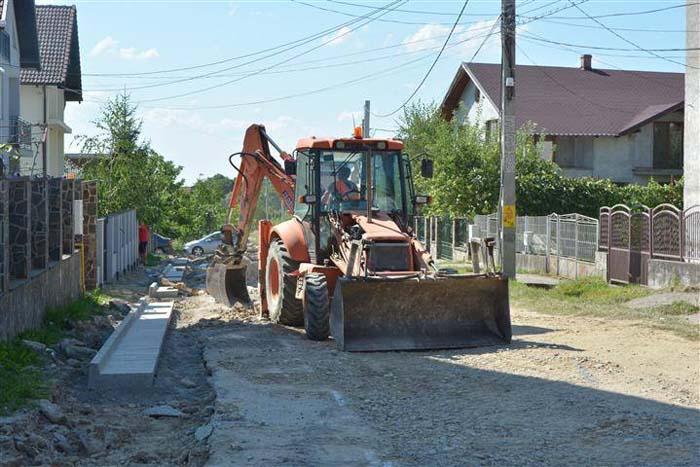 Lucrări de modernizare pe străzile Turului, Popești și Vâltori din Negrești-Oaș