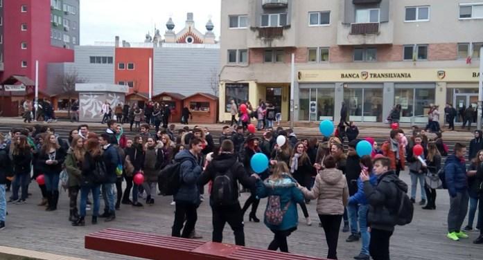 Petrecere de Dragobete, în centrul Sătmarului (Foto&video)