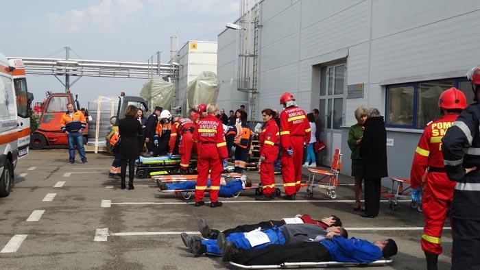 Cod Roșu de intervenție: Explozie cu multe victime la Carei – Exercițiu ISU (Galerie foto)